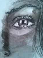 new pencils eye drawing by Sonnenelfe