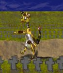 Zombie Ampharos (not the good one) by Llama-Design