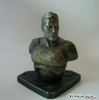 Faux Bronze Superman by figuralia