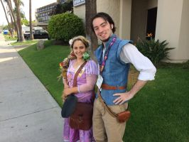 Rapunzel and Eugene by Whytegriffin