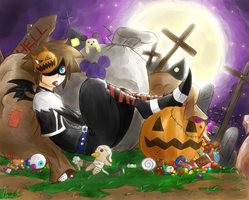 Kingdom Hearts Halloween 2012! by KENZICHII