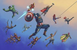 Marvel Heroes by Blcknight285
