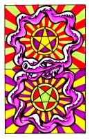 Two of Pentacles by psydsirius
