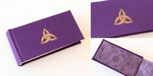 Mini Journal in Red with Triquetra by GatzBcn
