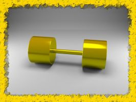 Gold Dumbbell by Xothex