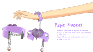 purple bracelet [dl ] by razrRjunko