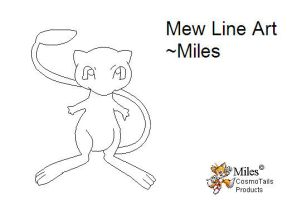 Mew Line Art by MileyMouse