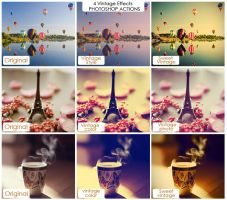 Vintage Photoshop Actions(free) by friabrisa