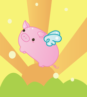Flying Pig by QOTD