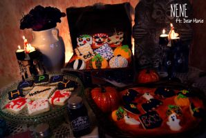 Halloween Sugar Cookies by Nene-Crafts