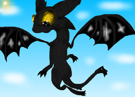 Toothless Flight by PlagueDogs123
