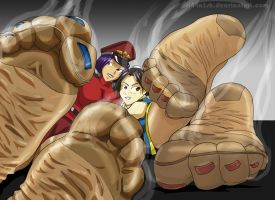ChunLi and MissBison by sl44n3sh