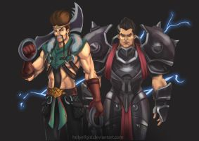 Draven and Darius by HolyElfGirl