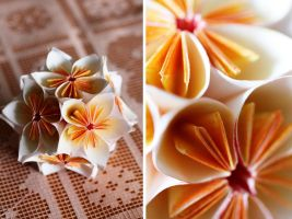 Morning dew kusudama by RoseaOrchis