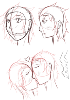 Practising head angles by Chickadee-chii