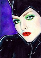 Catwoman Sketch Card 6 by veripwolf