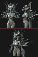 Goddess 3D Sketch 2 by Arta