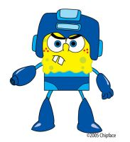 Rockman Squarepants by chipface-zero
