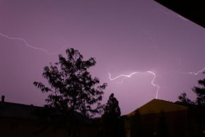 1st attempt at photographing lightning 2 by DarkPhoenix36
