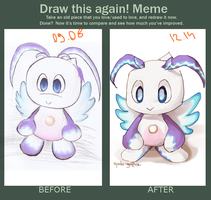 Draw This Again! Meme - Chao by zjedz-goffra