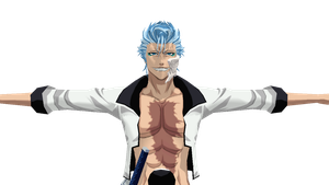 Grimmjow Jagerjaques~MMD++Needs rigging by 25animeguys