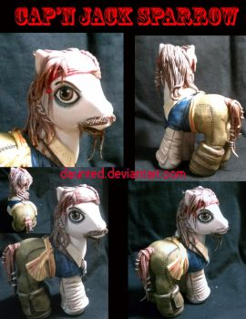 Captain Jack Sparrow MLP Custom by daunted