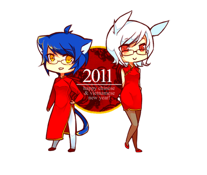 Happy New Year 2011 by KimKimsGalore