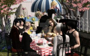Barbecue - Sims 2 by ticticc13