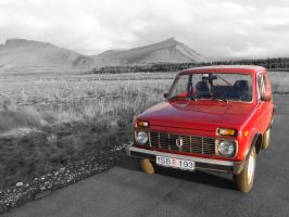 Gray and Red - Lada Sport by Nammi-namm