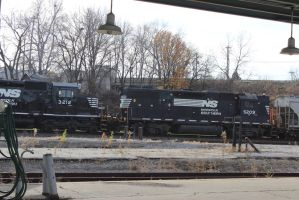 Norfolk southern locomotive  EMD SD60 high hood by bagera3005