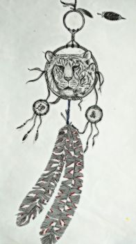 Dreamcatcher with Kanji and a tiger by Nika-17