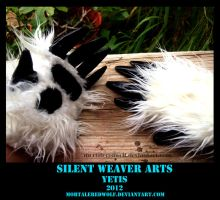 Yetis .:wrist claw paws:. by MortaleRedWolf