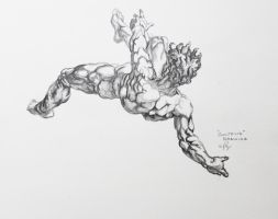 Study Of Goltzius Drawing by Pilflax13
