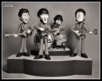The Beatles Playing by eccoarts