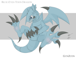 Blue Eyes Toon Dragon by GunZcon
