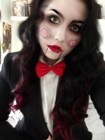 Creepy Jigsaw Make-up Cosplay by KikiMJ