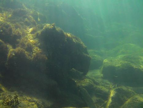 Cliffs in the sun below the surface by Gwendelyn