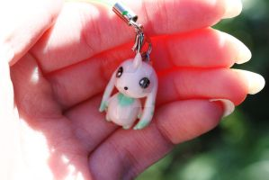 Terriermon Polymer Clay Charm by thearctisticfox