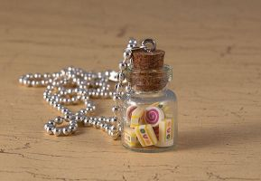 Jar of sweets necklace by skuggsida