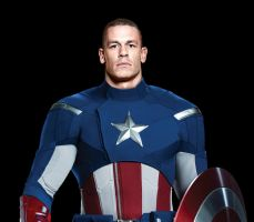 John Cena as Captain America by ImWithStoopid13