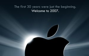 MacWorld 2007 Teaser Wallpaper by Flarup