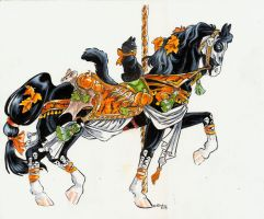 Halloween carousel horse by Hbruton