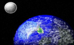 the moon and the earth complete by shadmart