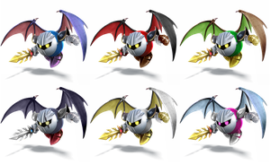 Meta Knight SSB4 Recolors by shadowgarion