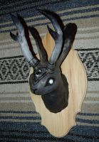 Jackalope Head by JACKIEthePIRATE