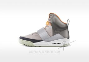 "Nike Air Yeezy HD ""Zen Grey"" by BBoyKai91"