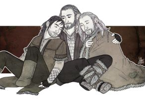 Thorin, Fili and Kili - Sleep by lilis-gallery