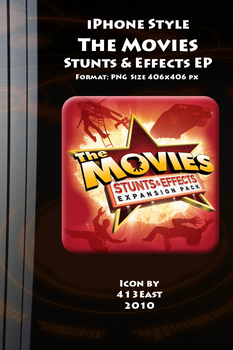 iPhone Style The Movies SE Ico by 413East