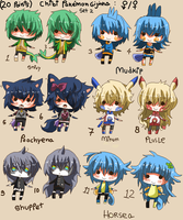 20 points for chibi - POKEMON GIJINKA set 2-CLOSED by Ayuki-Shura-Nyan