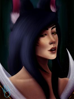 Ahri Redraw by Meltedjujubees